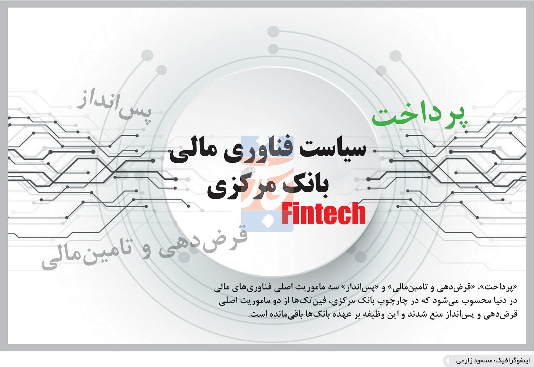 تجارت- فردا- سیاست فناوری مالی بانک مرکزی