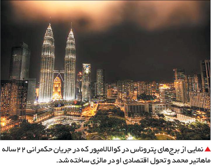 تجارت- فردا-  نمایی از برجهای پتروناس در کوالالامپور که در جریان حکمرانی 22ساله ماهاتیر محمد و تحول اقتصادی او در مالزی ساخته شد.
