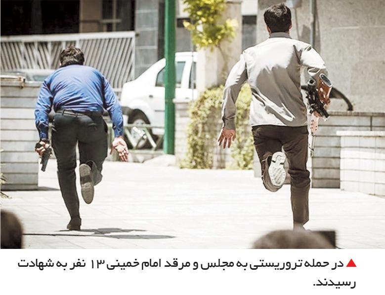تجارت فردا-  در حمله تروریستی به مجلس و مرقد امام خمینی 13 نفر به شهادت رسیدند.