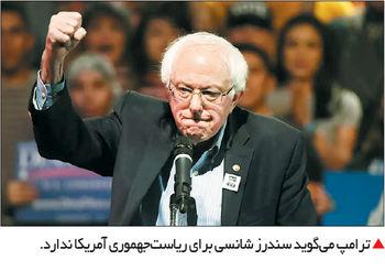 سندرز کاندیدای انتخابات 2020 آمریکا